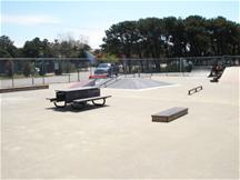 Ramps and Picnic Table at Skate Park